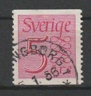 MiNr. 366 Schweden 1951, 29. Nov. Freimarke: Ziffernzeichnung, Hintergrund Nur Waagerecht Liniiert. StTdr.; Senkrecht Ge - Schweden