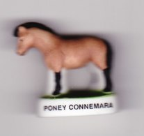 1 Fève Mat  Poney Du Connemara Série Anes Et Poneys - Animali