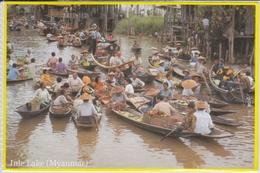 MYANMAR  INLE LAKE  Boating Villages And Vegetable Gardens      Nice Stamp - Myanmar (Burma)
