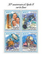 Central Africa. 2019 50th Anniversary Of Apollo 11 Landing On The Moon. (0101a) OFFICIAL ISSUE - Space