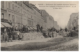Paris -souvenir De L'année Terrible 1870-71 - Barricades Rue Lafayette Et Faubourg St-Martin - Autres