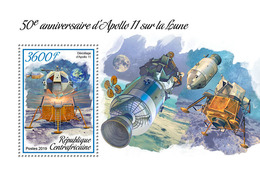 Central Africa. 2019 50th Anniversary Of Apollo 11 Landing On The Moon. (0101b) OFFICIAL ISSUE - Space