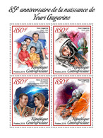Central Africa. 2019 85th Anniversary Of Yuri Gagarin. (0102a) OFFICIAL ISSUE - Space