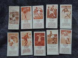 Lot De 40  Chromos Images. Biscuits REM. Photo L'EQUIPE.  Footballeurs Des Années 50.  FOOTBALL.  Aucun Double. - Sports