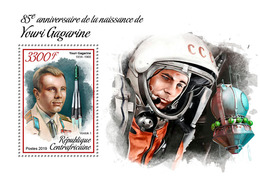 Central Africa. 2019 85th Anniversary Of Yuri Gagarin. (0102b) OFFICIAL ISSUE - Space
