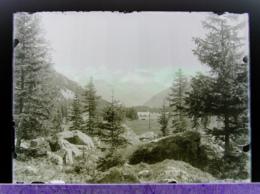 Ancienne Photographie Suisse Photo Négatif Sur Plaque De Verre Près Champex Val D'Arpette Orsières Martigny Bovernier - Plaques De Verre