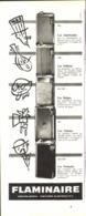 """PUB BRIQUET  """" FLAMINAIRE """"  1955 (1) - Briquets"""