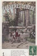 """CARTE FANTAISIE. SÉRIE COMPLÈTE  6 CARTES. POÉSIE DE PROVENSAL """" LE SECRET DE BÉBÉ """" ANNEE 1907 - Enfants"""