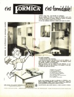 "PUB   "" FORMICA  ""   1955 ( 2 ) - Meubles"