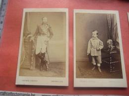 4 Photos, ALBERT I  Roi  Reine Et 2 Enfants  6,2 X 10,5 Cm Koning, Koningin En Kinderen - GHEMAR FRERES , Oude Fotos - Famous People