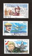 TIMBRES..FRANCAIS..OBLITERATIONS RONDES....POSTE AERIENNE...N°   73/74/78.... BE. SCAN - France