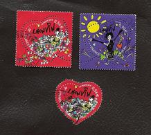 TIMBRES..FRANCAIS...OBLITERATIONS RONDE.S.    COEUR LANVIN ..4431/4432.4432A.  2010.   BE. - France