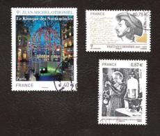 TIMBRES..FRANCAIS...OBLITERATIONS RONDE.S.     LOT DE 3 TIMBRES..N°4532/4533/4536..2011. BE - France