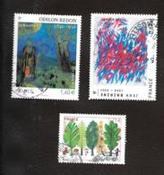 TIMBRES..FRANCAIS...OBLITERATIONS RONDE.S.     LOT DE 3 TIMBRES..N° 4537/4542/4551...2011..BE.. - France