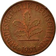 Monnaie, République Fédérale Allemande, 2 Pfennig, 1991, Hambourg, TB+ - [ 7] 1949-… : FRG - Fed. Rep. Germany