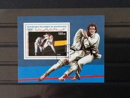 Mauritanië Block Pre Olympic Year 1987 Judo. - Mauritania (1960-...)