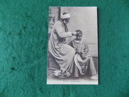 AFRICA: Egypt Ambulant Barber Sepia Livadas - Egitto