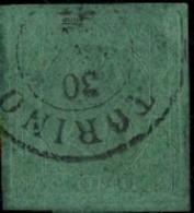 ! 1854 ? Green Old Stamp Sardinien Sardegna, Torino, Cinque, Grüne Briefmarke Nr. 4 ?, Italy, Alt Italien - Sardaigne