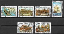 CUBA 1980 STORIA DELLA COSTRUZIONE NAVALE A CUBA YVERT. 2208-2213 USATA VF - Cuba