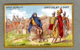 Chromo Louit Histoire Marius General Romain Italia Italie Ruines Carthage Tunisia WEYL & Sevestre Victorian Trade Card - Louit