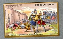 Chromo Louit Histoire History Comte De Dunois Count Capitaine Jeanne D'arc Paris WEYL & Sevestre Victorian Trade Card - Louit