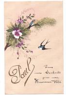 "THD. 602/  Carte Fantaisie Prénom - ""Paul"" (peinte) - Nombres"