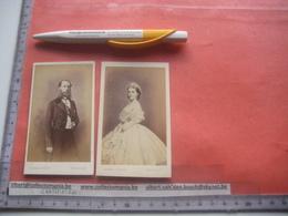 2 Photos,s  6,2 X 10,5 Cm Koning Roi Des Belges FRERE ET SOEUR De Leopold   - GHEMAR FRERES , Oude Fotos - Famous People