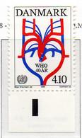 PIA - DANIMARCA -1988 : 40° Anniversario Dell' Organizzazione Mondiale Della Sanità  - (Yv 922) - Salute
