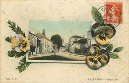 WW 94 VALENTON. Lot 2 Cpa Sur Grande Rue 1913-15 - Valenton