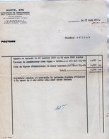 VP14.449 - Facture - Entreprise De Dérochement Des Chemins Forestiers Mr M. ERB à LAUTENBACH - ZELL - Chantier ANDLAU - Agriculture