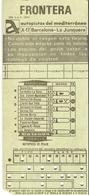 Ticket De Péage Autoroute A17 De Barcelona à La Junquera - Espagne - Carte Perforée IBM 1976 - Titres De Transport