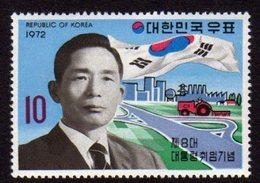 South Korea 1972  Michel  859 President Park Value  Mnh . - Corea Del Sur