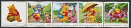 Antigua & Barbuda Unissued Walt Disney's Winnie The Pooh Perforated Strip Of 5 Essays Produced On Official Bla... - Antigua And Barbuda (1981-...)