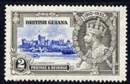 British Guiana 1935 KG5 Silver Jubilee 2c Fine Mounted Mint Single With 'broken Flagstaff' Variety, SG 301var - Guyane (1966-...)