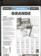 LEUCHTTURM - Feuilles GRANDE 2 S - 2 POCHES Fond Noir - Albums & Reliures