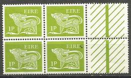 Ireland - 1969 Stylised Dog 1p Margin Block MNH   SG 244 - 1949-... Republic Of Ireland