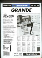 LEUCHTTURM - Feuilles GRANDE 3 S - 3 BANDES Fond Noir - Albums & Reliures
