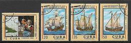 CUBA  1982 ANNIVERSARIO SCOPERTA DELL'AMERICA YVERT. 2399-2402 USATA VF - Cuba