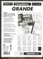 LEUCHTTURM - Feuilles GRANDE 4 S - 4 BANDES Fond Noir - Albums & Reliures