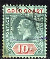 Gold Coast 1913-21 KG5 10s Fine Used Very Slight Discolouration Lower Left Corner, SG83a - Autres