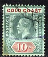 Gold Coast 1913-21 KG5 10s Fine Used Very Slight Discolouration Lower Left Corner, SG83a - Australie