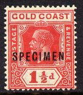Gold Coast 1921-34 KG5 Script CA Die II - 1.5d Red Overprinted SPECIMEN With Gum And Only About 400 Produced SG 88s - Autres