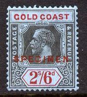 Gold Coast 1921-34 KG5 Script CA Die II - 2s6d Overprinted SPECIMEN Part Original Gum And Only About 400 Produced SG 97s - Australie