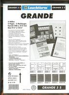 LEUCHTTURM - Feuilles GRANDE 5 S - 5 BANDES Fond Noir - Albums & Reliures