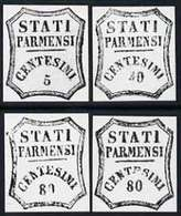 Italy - Parma 1859 Four Photographic Prints From Sperati's Own Negatives Enlarged Twice Linear, All With Speci... - Italia