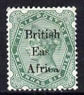 Kenya, Uganda & Tanganyika - British East Africa 1895-96 QV 2.5a Yellow-green With 'Eas' For 'East' Variety, A... - Kenya (1963-...)