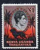 Kenya, Uganda & Tanganyika 1938-54 KG6 Lion \A31 P14 Mounted Mint SG150a - Kenya (1963-...)