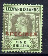 Leeward Islands 1921-32 KG5 Script CA 1s Black On Emerald Overprinted SPECIMEN Fine With Gum And Only About 40... - Montserrat