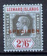 Leeward Islands 1921-32 KG5 Script CA 2s6d Black & Red On Blue Overprinted SPECIMEN Fine With Gum And Only Abo... - Montserrat