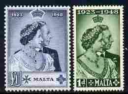 Malta 1949 Royal Silver Wedding Set Of 2 Unmounted Mint SG 249-50 - Malte